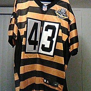 detailed look bd5d3 1c3fe Polamalu Steelers old school 80 season Nike jersey